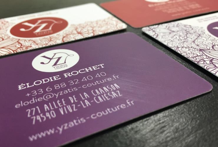 Création Carte de visite Ysatis Couture